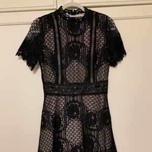 NWT BB Dakota black lace dress